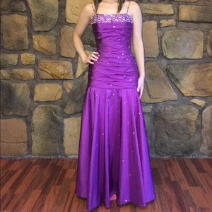Purple Mori Lee Prom Dress